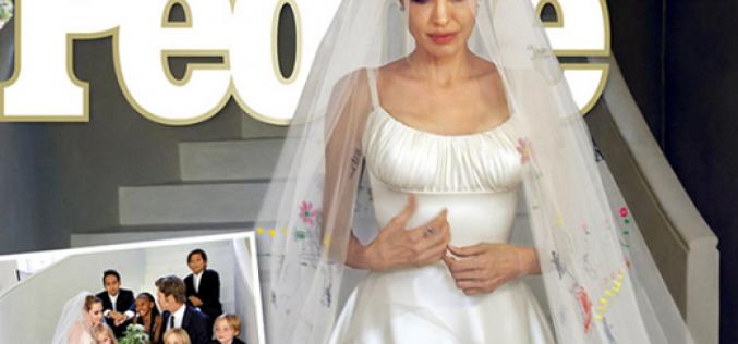 Así es el vestido de novia de Angelina Jolie