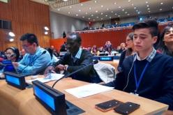 Rodrigo de Aldeas Infantiles SOS representó a los niños y jóvenes de la región frente a la ONU