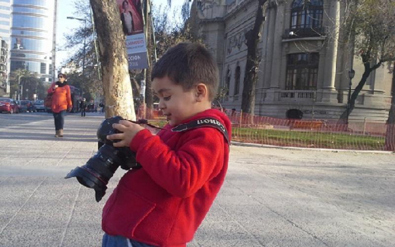 Vive una aventura fotográfica padre e hijo en el Cerro San Cristóbal