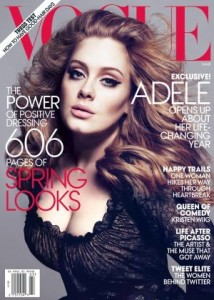 Adele en laPortada de 'Vogue' en 2013