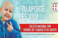 28 y 29 de agosto: colecta nacional de Fundación Nuestros Hijos que apoya a niños con cáncer