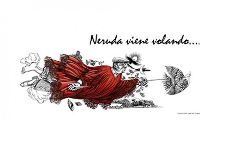 Neruda regresa a Santiago con gran espectáculo callejero