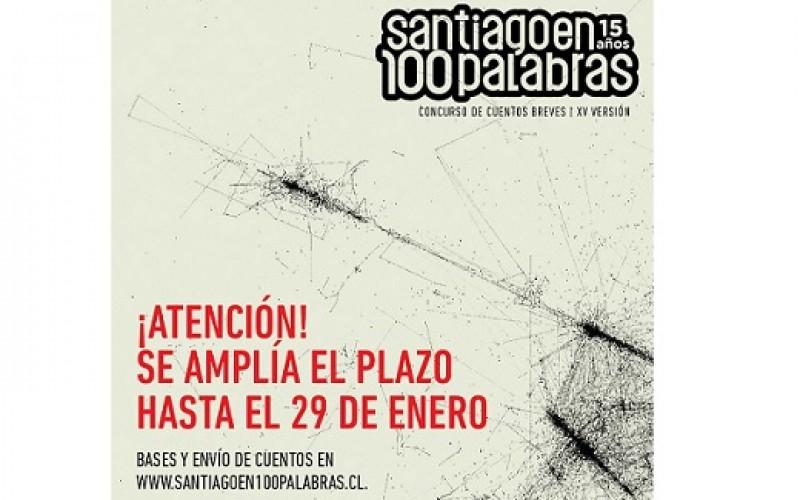 ¡Santiago en 100 palabras extiende una semana su plazo!