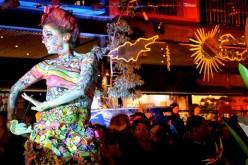 Patio Bellavista recibe la primavera con desfile de cuerpos pintados