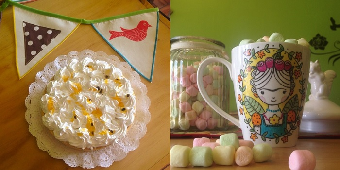 Frida pastel y tazón