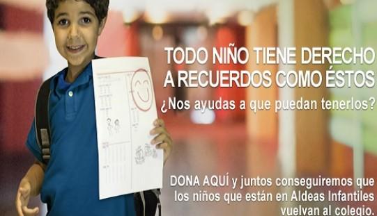 Aldeas Infantiles SOS lanza Campaña Vuelta a Clases