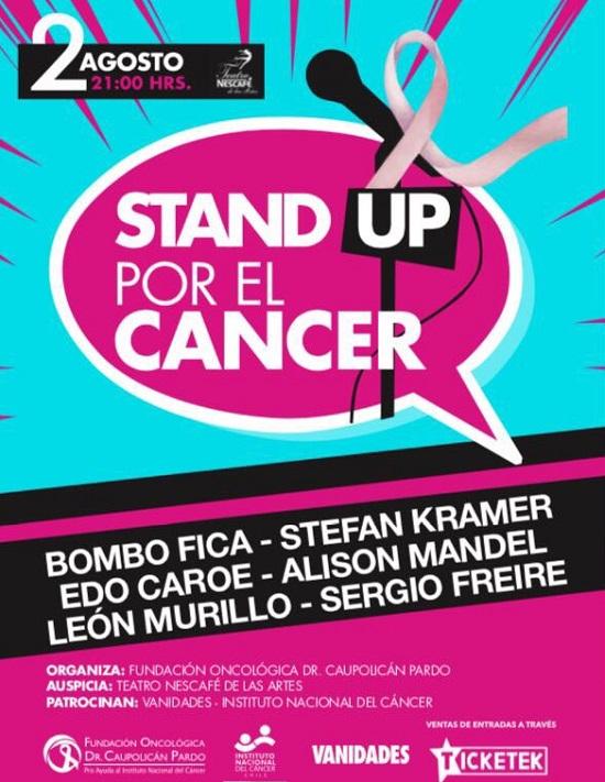 Afiche Stand Up x cáncer