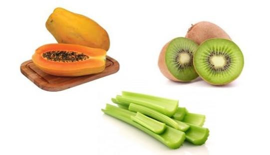 Apio, kiwi y papaya: protectores del hígado